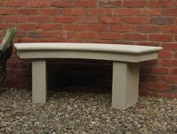 modern single curved stone bench large garden bench s u0026s shop