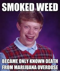 Marijuana Overdose Meme - smoked weed became only known death from marijuana overdose bad