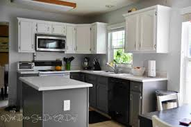 Spraying Kitchen Cabinets Before And After Painted Kitchen Cabinets Ellajanegoeppinger Com