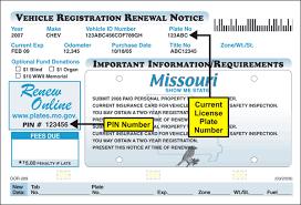 renewing missouri license plates