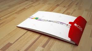 ax brochure layout design 3d art studio