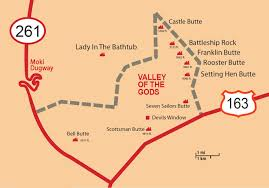 Scenic Route Map by Valley Of The Gods Bluff Utah