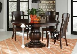 standard height vs counter height vs bar height amish dining tables