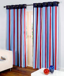 Blue And Striped Curtains Unique Function Of Striped Curtains Home Design Ideas