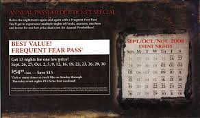 promo codes for halloween horror nights universal orlando brochures u0026 miscellaneous items