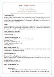 Sample Resume For Mba Hr Experienced by Resume Blog Co A Beautyful Resume Sample In Word Doc Mba Hr