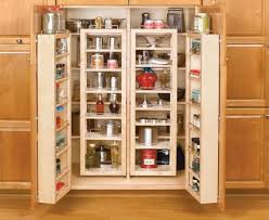 pantry cabinet with glass doors