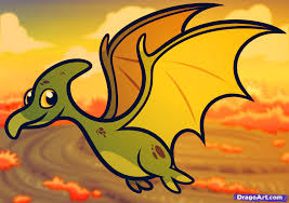 how to draw a pterodactyl for kids step by step dinosaurs for