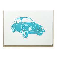 blue volkswagen beetle vintage vintage vw beetle folding card u2013 dogwood letterpress