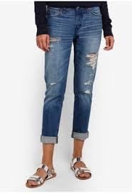 Abercrombie Ripped Jeans Buy Women U0027s Boyfriend Jeans Online Zalora Singapore