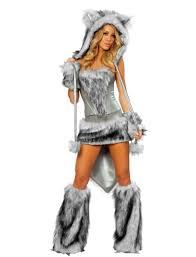 halloween wolf costume furry big bad wolf halloween costume for women
