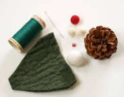 pine cone and felt gnome christmas ornament the magic onions