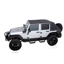 grey jeep wrangler 4 door rage 139835 wrangler jk soft top kit trailview frameless 2007