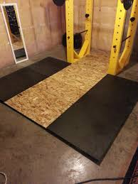 Gym Flooring For Garage by I Made A Squat Rack Power Rack And Lifting Platform For Under 200