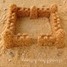 edible sand easy edible sand castle krispie treat allfreekidscrafts