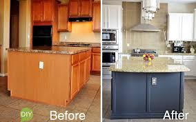easy kitchen island we gave our kitchen island a custom look we speak diy