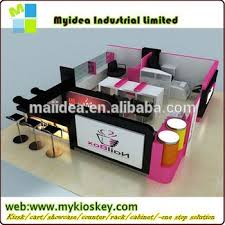 simple style mall design nail bar of modern nail salon furniture
