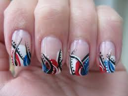 nail art 4th of july design youtube