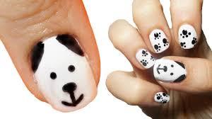 puppy dog nail art youtube