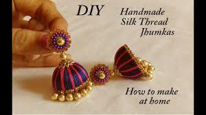 bridal jhumka earrings diy how to make designer silk thread bridal jhumka earrings at