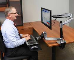 Lx Hd Sit Stand Desk Mount Lcd Arm Ergotron 45 384 026 Lx Hd Sit Stand Desk Mount Lcd Arm