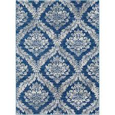 Cobalt Blue Area Rug Oriental Surya Blue Area Rugs Rugs The Home Depot