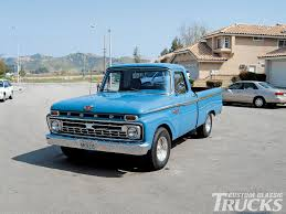 truck ford blue 1965 ford f100 rod network
