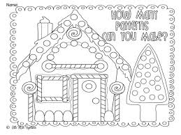 printable gingerbread house colouring page christmas colour in house christmas coloring pages