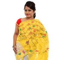dhakai jamdani saree online jamdani online yellow and green dhakai jamdani sarees