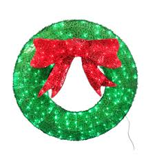 Decorating Large Christmas Wreaths by Holiday Living 36 In Indoor Outdoor Green Artificial Wreath With