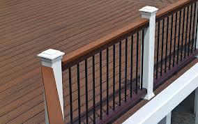 ringhiera in legno per giardino ringhiera in composito a sbarre da esterno per esterno
