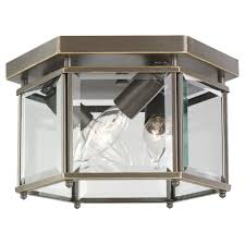 sea gull lighting 7648 782 3 light ceiling fixture clear beveled