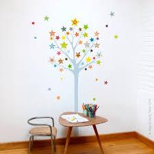 sticker arbre à étoiles déco chambre bébé et enfant série golo