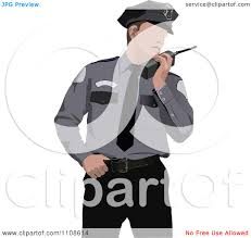 clipart police officer talking into a walkie talkie royalty free