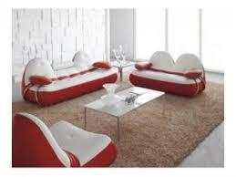 mobilier de canapé cuir mobilier nitro salon cuir complet vancouver assise blanche par
