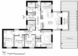 plan maison contemporaine plain pied 3 chambres plan maison plain pied 1 chambre inspirational plan maison plain