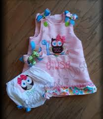 owl theme a line party birthday dress baby girls 6mos to 4t