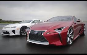video lexus lf lc concept meets the lexus lfa performancedrive