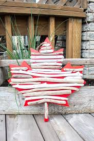 Unique Home Decor Canada Canada Day Crafts Diy Maple Leaf Décor With Driftwood U2013 Diy U0026 Craft