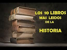mis libros historias de la historia los 10 libros mas leidos de la historia youtube