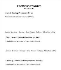 promisory note sample 8 mortgage promissory note free sample