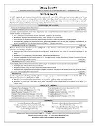 Sample Resume For Police Officer Law Enforcement Resume Objectives