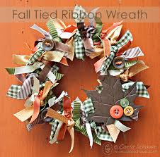 ribbon wreaths make a fall wreath with ribbons hometalk