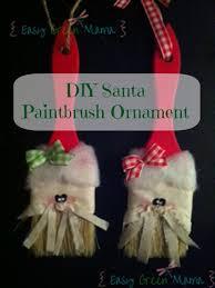 santa paintbrush ornament diy ornament
