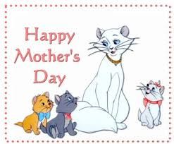 printable mothers day cards with catskitty baby