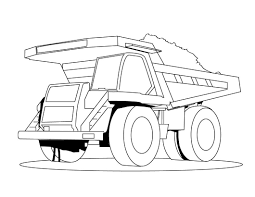 dump truck coloring pages loading coloringstar