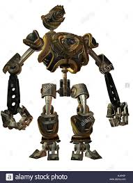 combat robots in steampunk style stock photo royalty free image