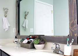 framed bathroom mirrors diy simple diy mirror frame bathroom eizw info