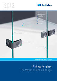 Shower Door Fittings by Download Hardware Catalogue Fittings For Glass Bohle Ag Pdf