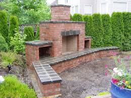download brick outdoor fireplace garden design